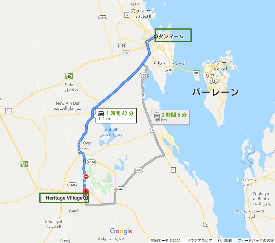 Dammam-から-Heritage-Village-1-Google-マップ.png