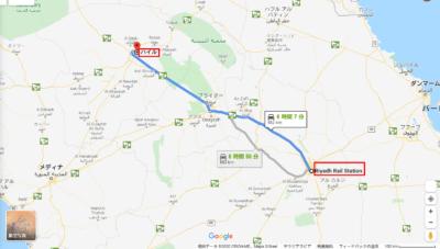 Riyadh Rail Station から Hail Province - Google マップ