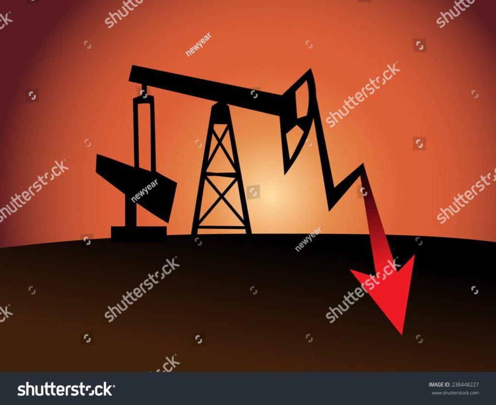 石油採掘のイラスト