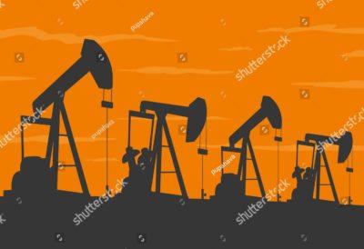 石油掘削機械のイラスト