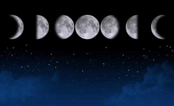 月の満ち欠け 新月から満月まで